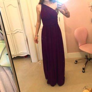 DONNA MORGAN Purple floor length formal (size 4)